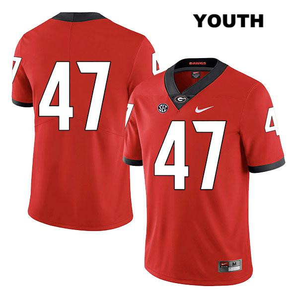 Youth Stitched Nike Georgia Bulldogs Red Payne Walker Authentic Legend no. 47 College Football Jersey - No Name - Payne Walker Jersey