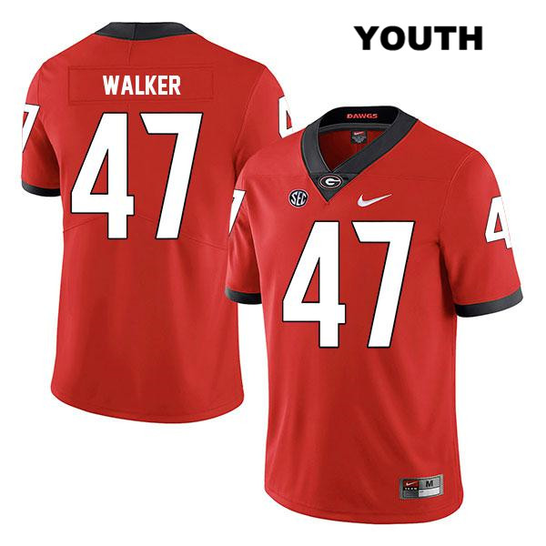 Youth Georgia Bulldogs Legend Red Stitched Payne Walker Nike Authentic no. 47 College Football Jersey - Payne Walker Jersey