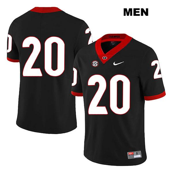 Stitched Mens Nike Georgia Bulldogs Legend Black Sevaughn Clark Authentic no. 20 College Football Jersey - No Name - Sevaughn Clark Jersey