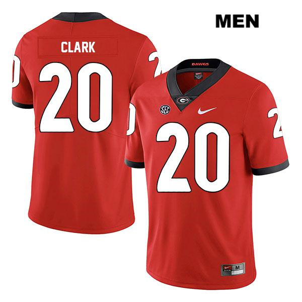 Mens Legend Georgia Bulldogs Stitched Nike Red Sevaughn Clark Authentic no. 20 College Football Jersey - Sevaughn Clark Jersey