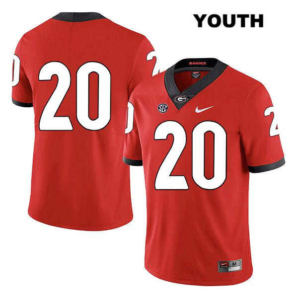Nike Youth Georgia Bulldogs Stitched Red Legend Sevaughn Clark Authentic no. 20 College Football Jersey - No Name - Sevaughn Clark Jersey