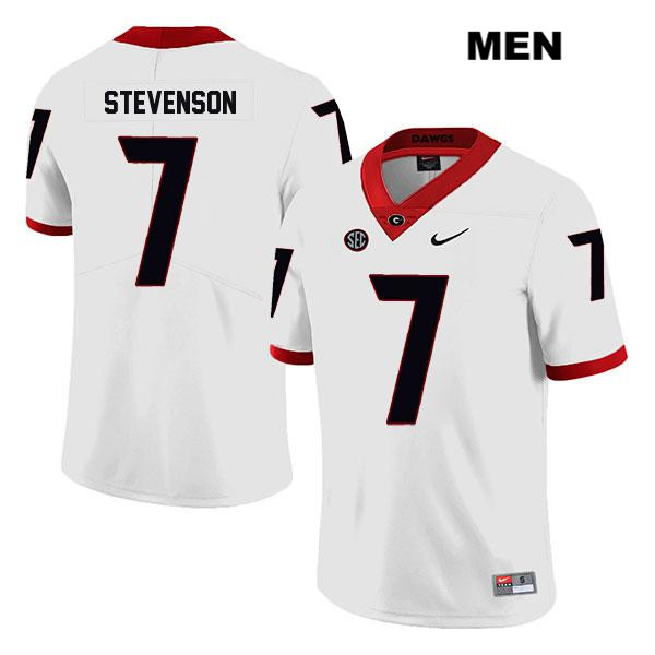 Mens Legend Georgia Bulldogs Nike Stitched White Tyrique Stevenson Authentic no. 7 College Football Jersey - Tyrique Stevenson Jersey