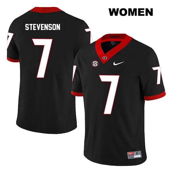 Legend Womens Georgia Bulldogs Stitched Black Tyrique Stevenson Authentic Nike no. 7 College Football Jersey - Tyrique Stevenson Jersey