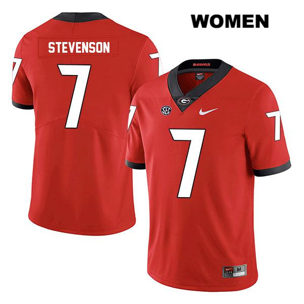 Womens Georgia Bulldogs Nike Red Tyrique Stevenson Legend Stitched Authentic no. 7 College Football Jersey - Tyrique Stevenson Jersey
