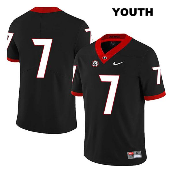 Youth Georgia Bulldogs Black Nike Tyrique Stevenson Legend Authentic Stitched no. 7 College Football Jersey - No Name - Tyrique Stevenson Jersey